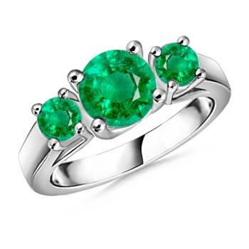 3-emerald ring