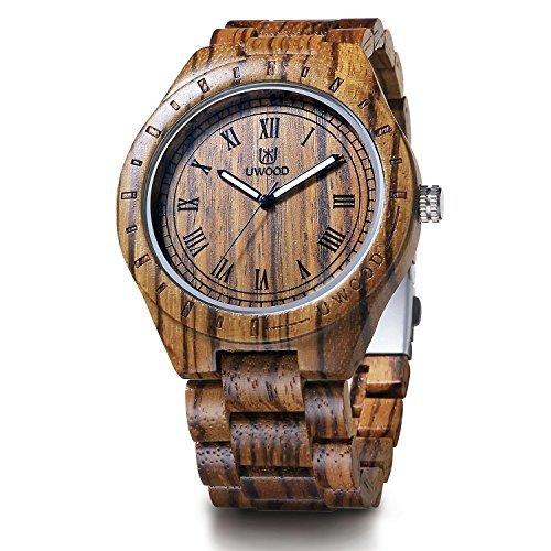 sandal wood quartz watch by ProWatchStore