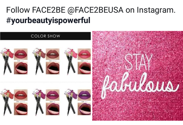 Face2Be line of cosmetics